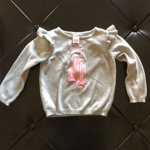 Gymboree Shirts & Tops - Gymboree ballet shoes sweater